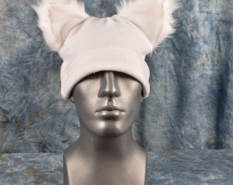 White Ear Beanie