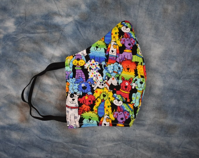 Rainbow Dogs Face Mask