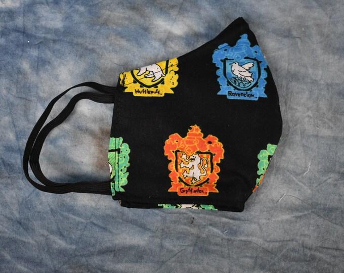 Hogwarts House Crests Face Mask