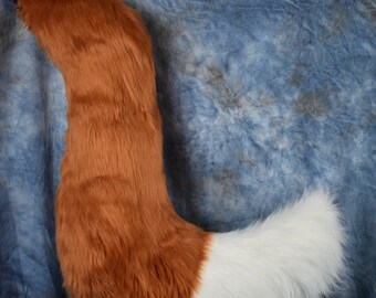 READY TO SHIP!!! Jumbo Rust Fox Fursuit Tail