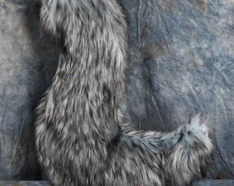 READY TO SHIP!!! Light Blue Husky Jumbo Wolf Fursuit Tail