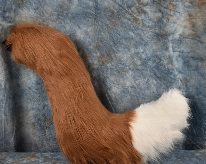 Rust-Brown Fox Fursuit Tail