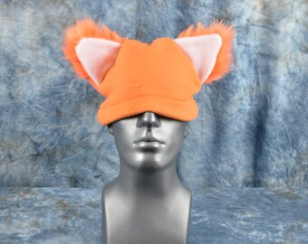 Orange Ear Beanie