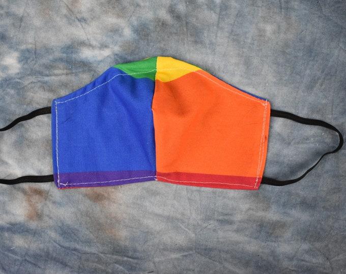Rainbow Stripes Face Mask