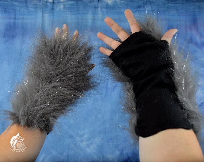 CUSTOM: Sparkle Fur Arm Warmers