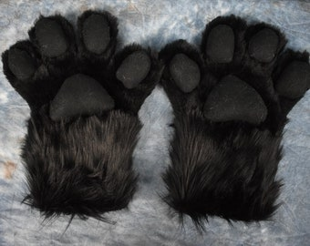 Black Hand Paws with Black Paw Pads