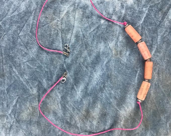 Peach Beads Face Mask Chain