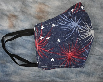 Independence Day Fireworks Face Mask