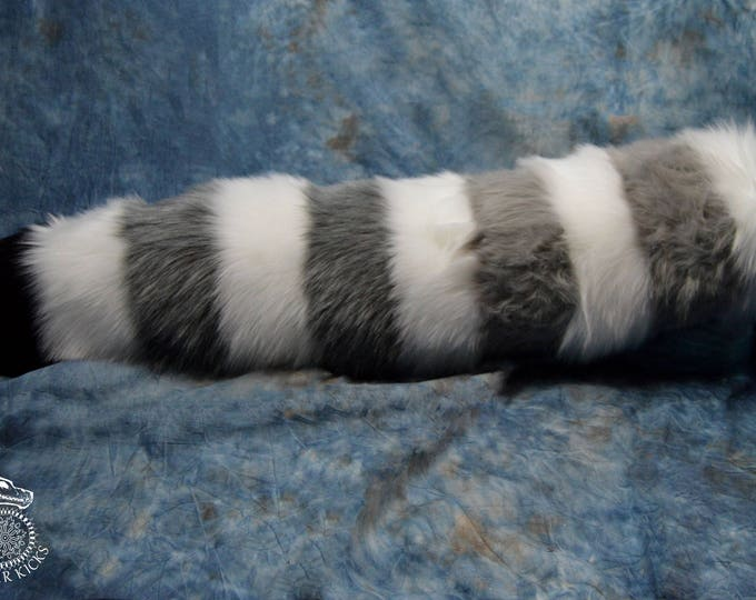 Grey Scale Red Panda Fursuit Tail
