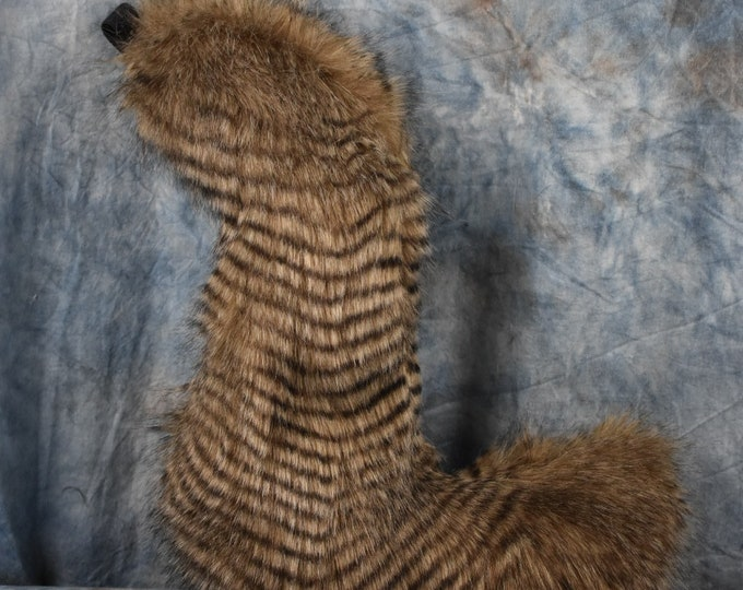 READY TO SHIP!!! Brown Stripes Wolf Fursuit Tail