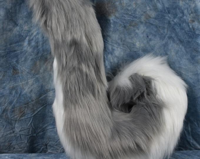Grey Husky Fursuit Tail