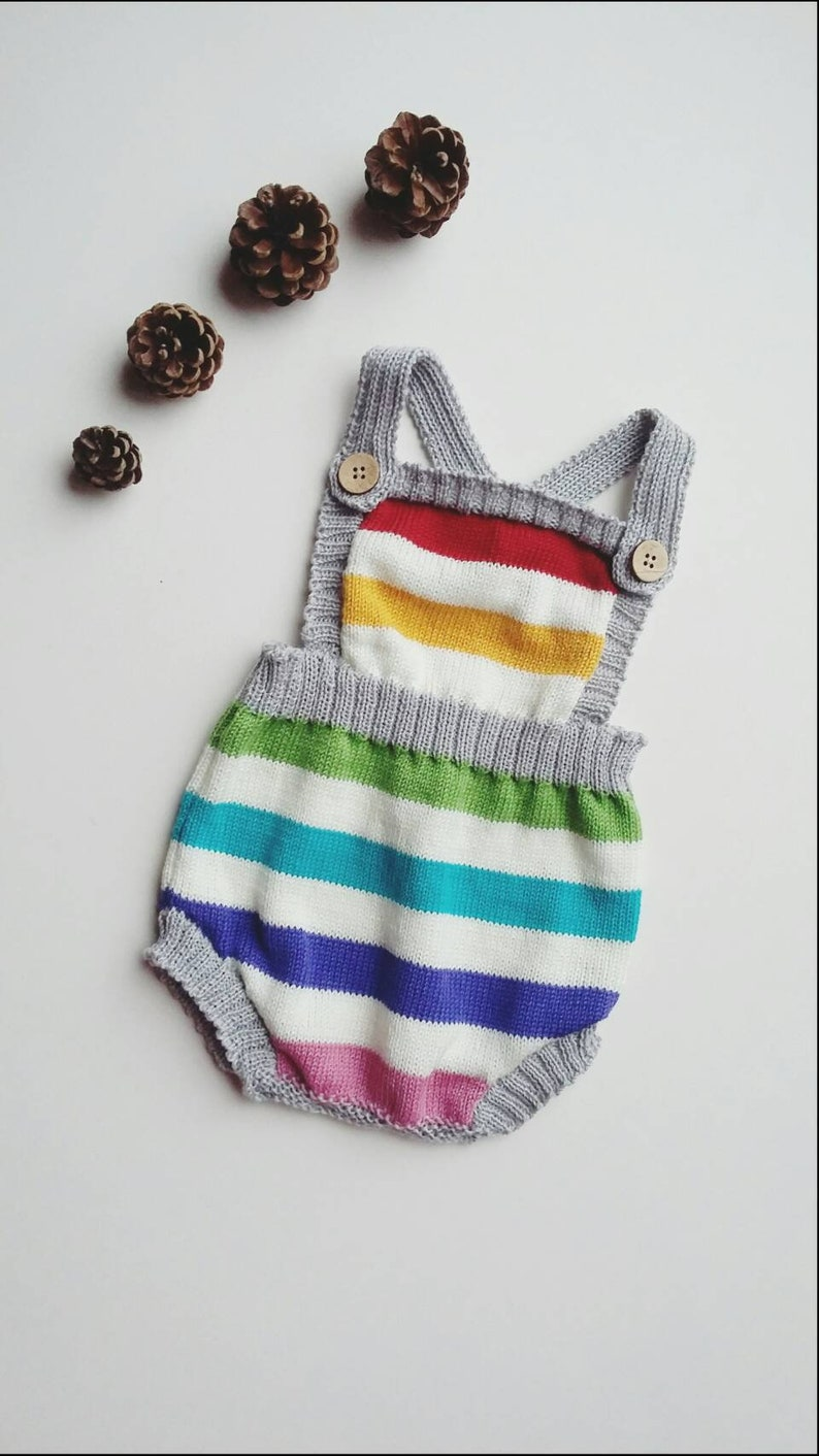 unisex baby romper knitted baby clothes Rainbow baby clothes rainbow baby gift baby boy romper baby girl romper rainbow romper