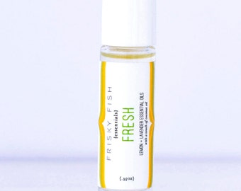 Lemon and Lavender Essential Oil Roller, FRESH is a Purifying and Renewing Essential Oil Blend in an Easy Roller for Aromatherapy on the Go