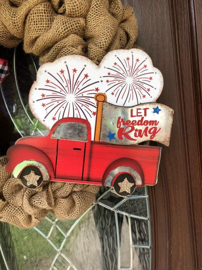 patriotic wreath 4th of July wreath Americana wreath Burlap wreath summer wreath