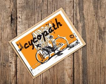 Cycopath Blank Card, Card for Cyclists, Bicycle Card