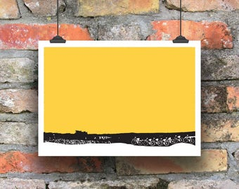 Cycling Art / Bicycle Print /  Cycling Print / Up and Over / Cycling Poster / Art for Cyclists / Gift for Cyclists