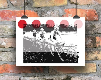 Cycling Art / King of the Mountains Print /  Giclee Cycling Print