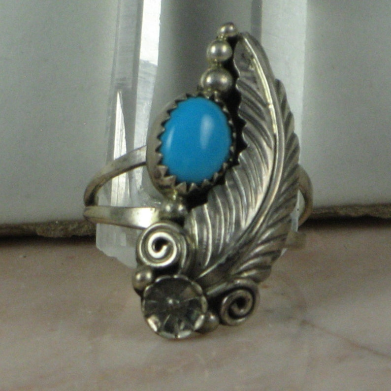 Arizona Tuquoise Sleeping Beauty Ring Blue Turquoise Ring Sleeping Beauty Mine Sky Blue Turquoise Sterling Silver Native American Ring
