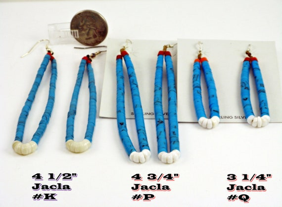 Long Blue Turquoise, Turquoise Earrings, Turquoise