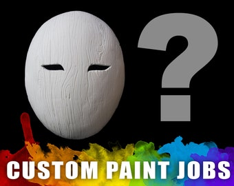 Custom Painted - Flat Wood Grain Mask