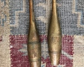 Antique Juggling Pins Wood Indian Clubs Weights
