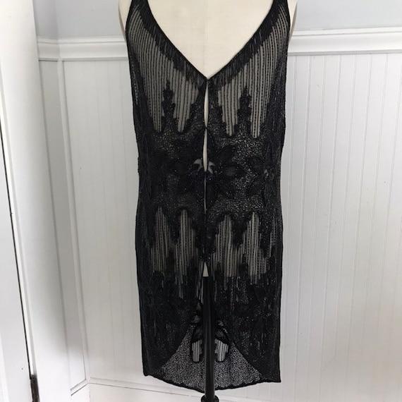 Ralph Lauren Beaded Dress Flapper Vest Vintage Mot