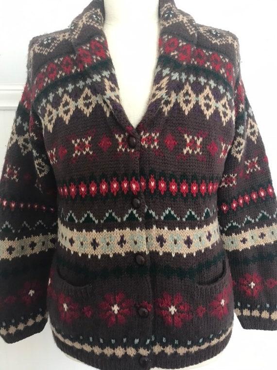 Ralph Lauren Sweater Coat Hand knit Ralph Lauren … - image 7