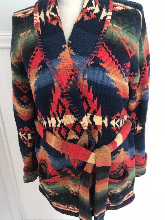 7a02fa289 Ralph Lauren Sweater Coat Hand knit Ralph Lauren Hand knit L
