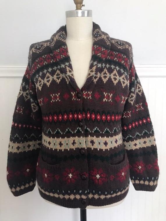 Ralph Lauren Sweater Coat Hand knit Ralph Lauren … - image 1