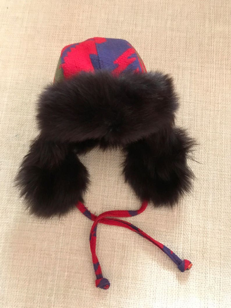 Ralph Lauren Trapper Fur Hat Shearling Trapper Hat Indian  3be5aedf288