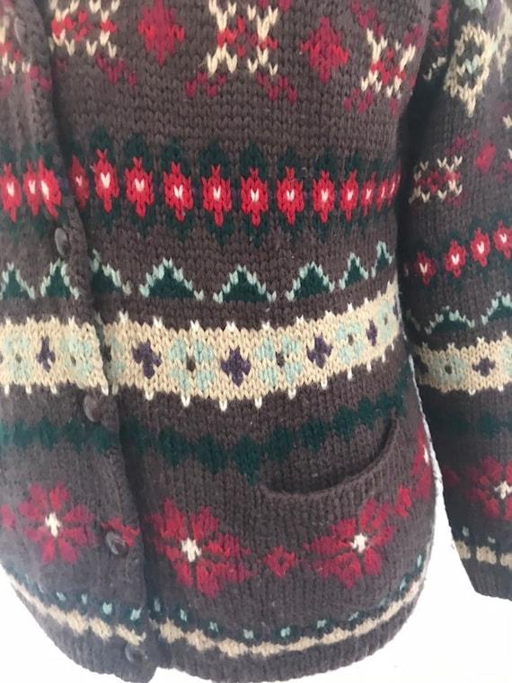 Ralph Lauren Sweater Coat Hand knit Ralph Lauren … - image 3