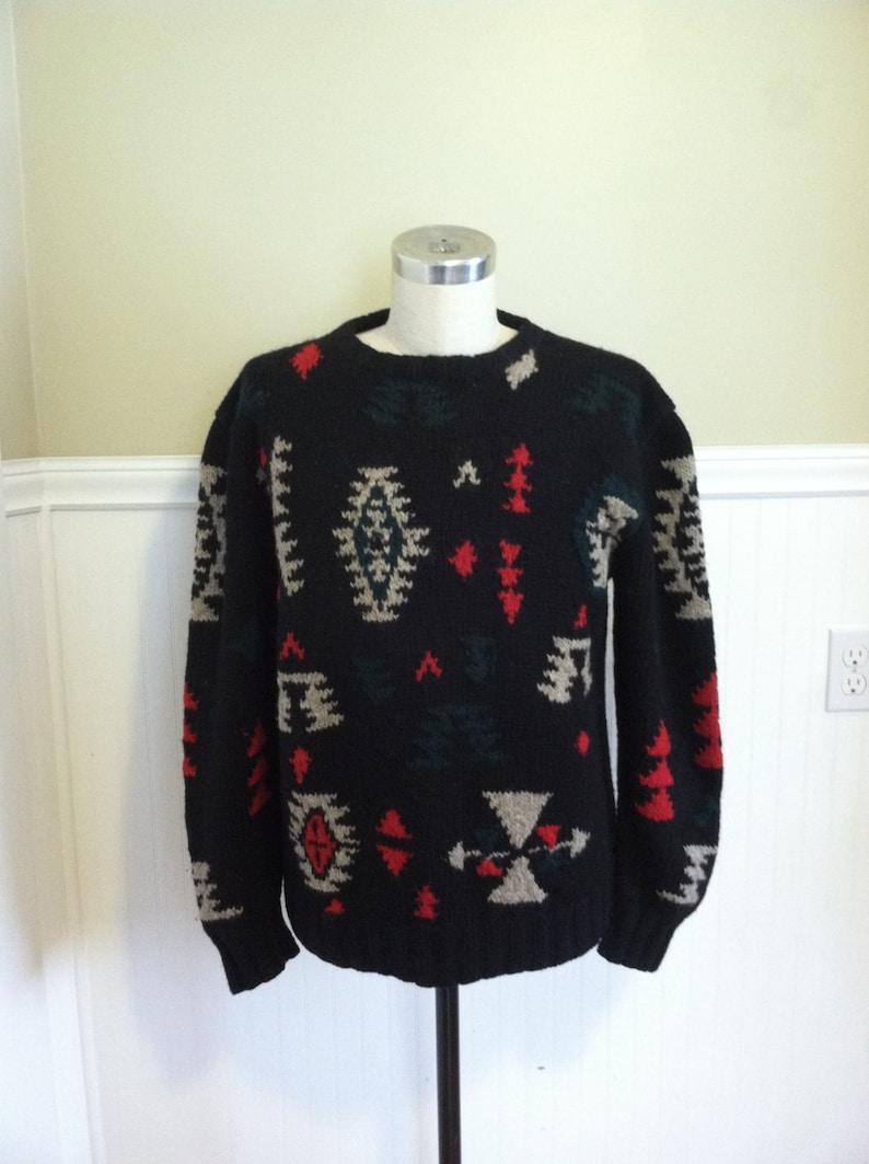 434febd3a Ralph Lauren Tribal HAnd knit Sweater Indian Blanket Southwest