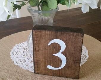 Numéros de Table, numéros de Table rustique, numéros de Table de mariage, numéros de Table de mariage rustique en bois