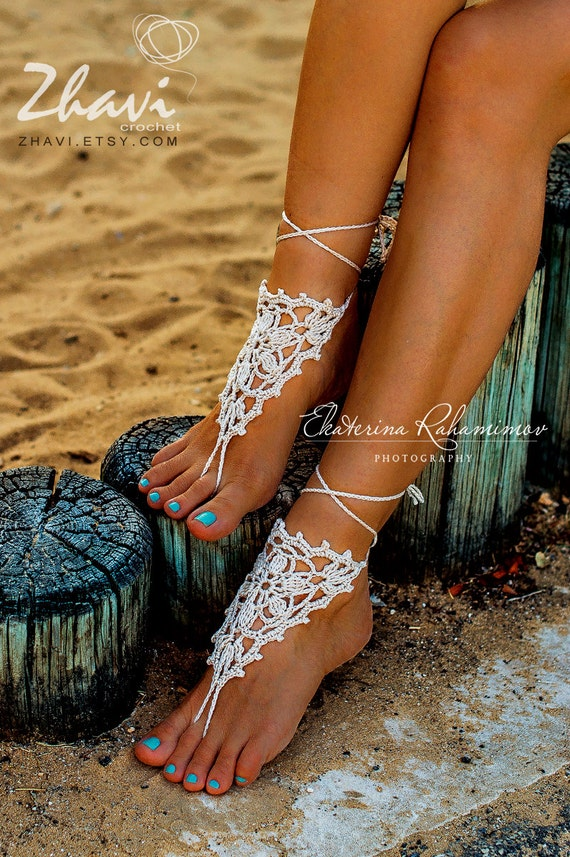 Sandals Nude Foot Jewelry Yoga Barefoot Crochet Bridal Party Sale Lace Anklet Spring Wedding Shoes Beige derWxBoC