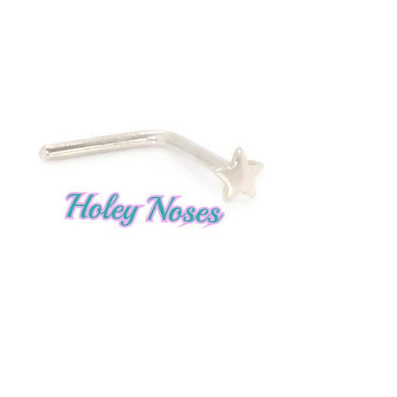 9ct Yellow Gold Flat disc petite Nose Stud Pin Ring body jewellery appx 1.5mm