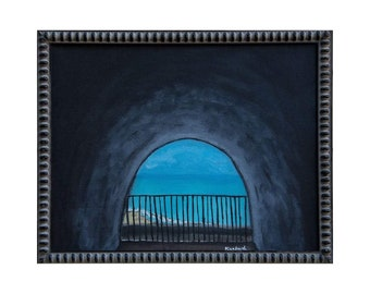 """Tunnel to a Haven Original Oil Painting, Framed, Inspired by nature, High Quality Prints, 0.75"""" thick canvas - 11"""" × 14"""""""