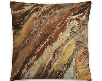 Decorative Throw / Accent pillow in Brown and Beige