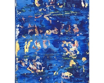 "Hidden Treasure, Original Acrylic Painting on Gallery-Wrapped Canvas, true treasure present, High Quality Prints, 5"" x 7"""