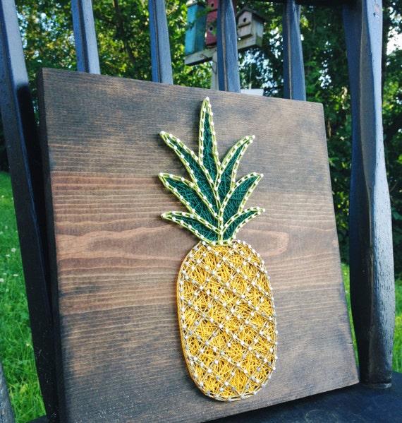 String Art string art Pineapple Pineapple String art Nail   Etsy