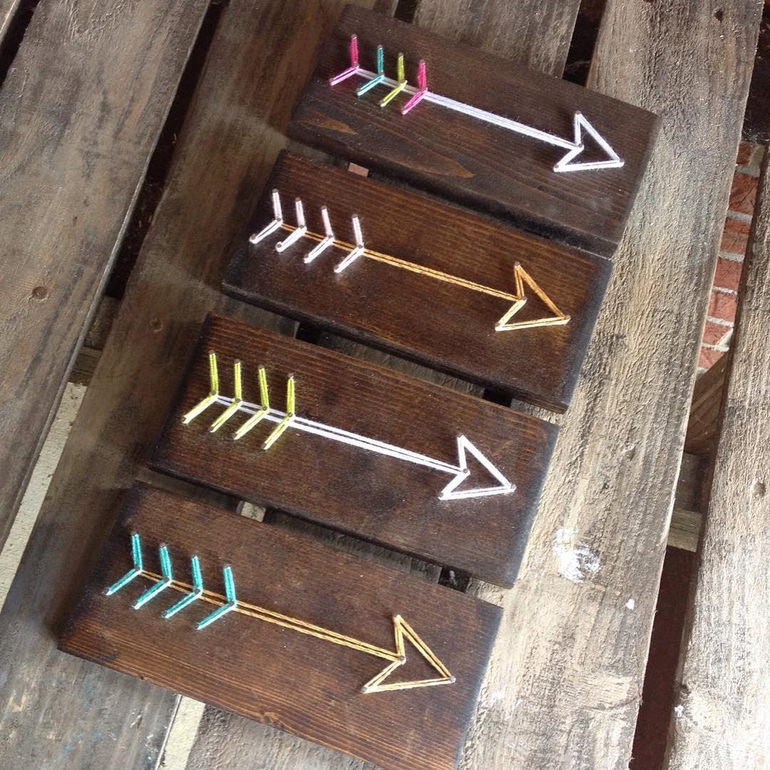 String Art Stringart String And Nail Art Nail Art Arrow Etsy