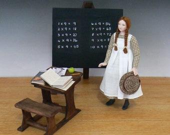 "1:12 Scale Dollhouse ""Anne with an E"" Doll"