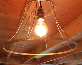 Wire lamp shade etsy wire lamp shade light greentooth Image collections