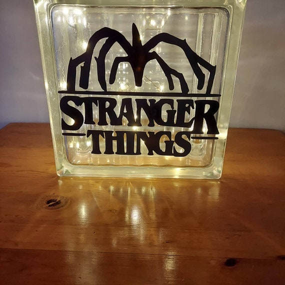 Stranger Things Glass Block Light with Decal