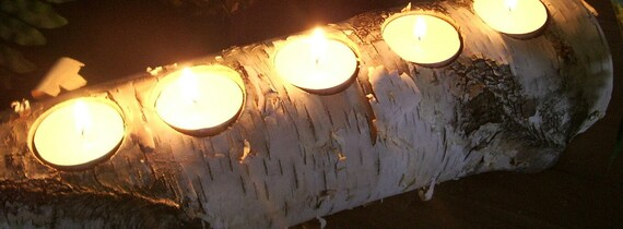 Birch Candle Log