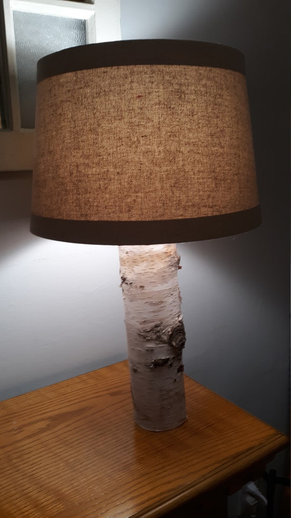 Birch Wood Lamp