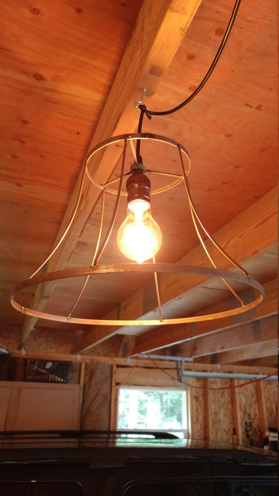 Wire lamp shade light