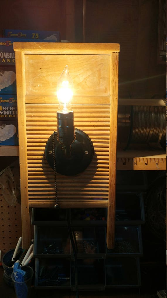 Washboard wall light