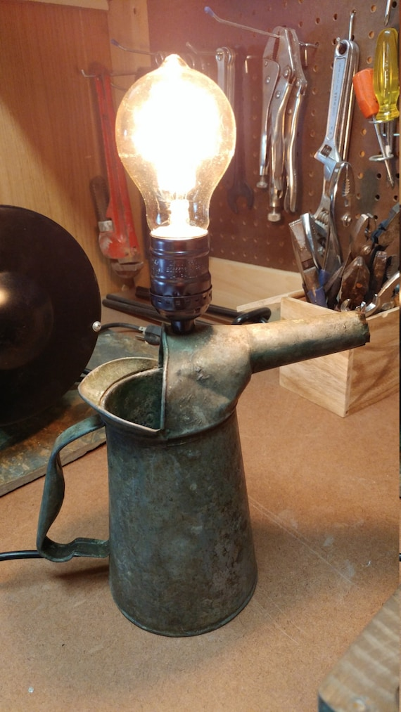 Oil Can with spout Lamp