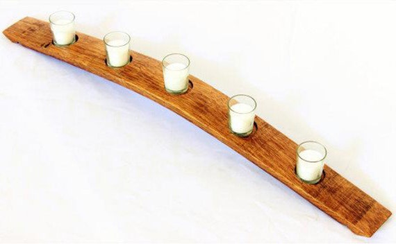 Barrel Stave Candle Holder