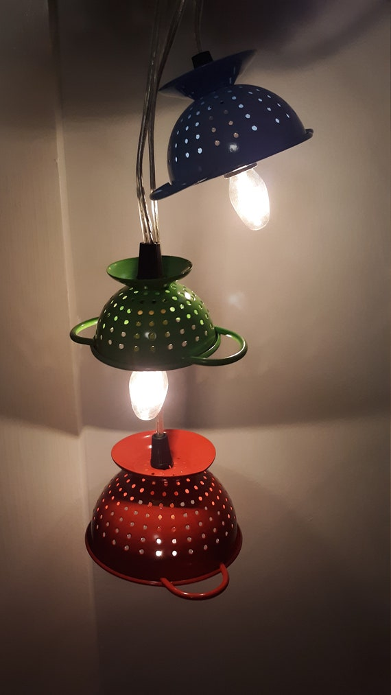 Colander hanging light